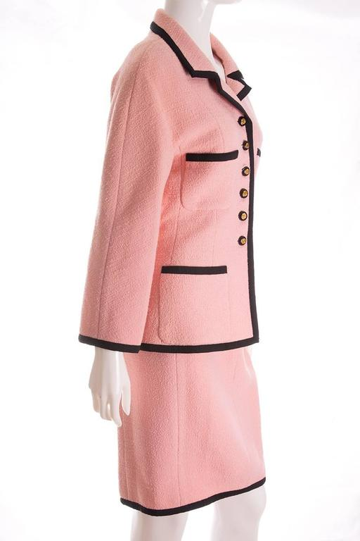 Chanel 1995 Pastel Pink Skirt Suit 2