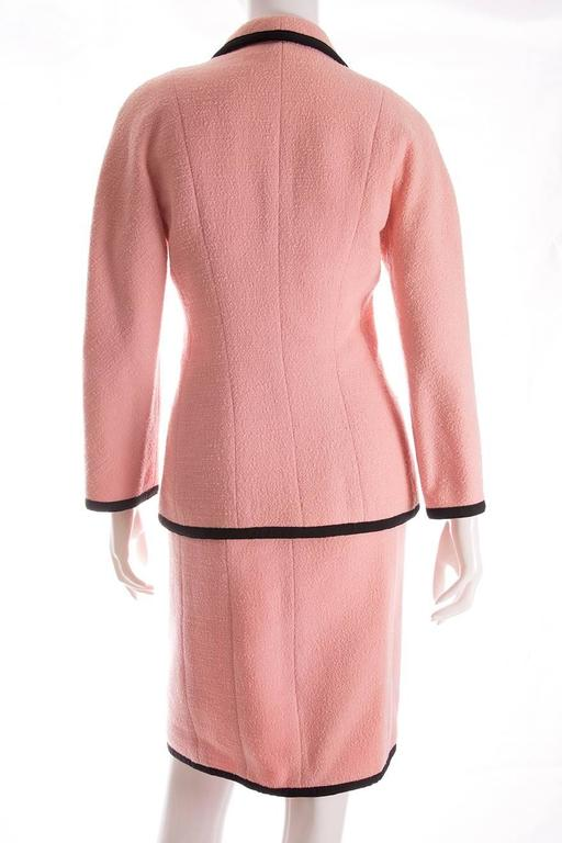 Chanel 1995 Pastel Pink Skirt Suit 3