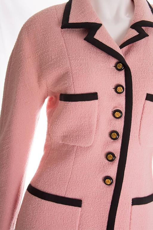 Chanel 1995 Pastel Pink Skirt Suit 4