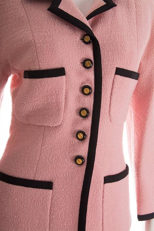 Chanel 1995 Pastel Pink Skirt Suit 5