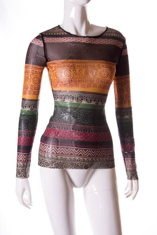 Jean Paul Gaultier Sheer Tribal Shirt 3