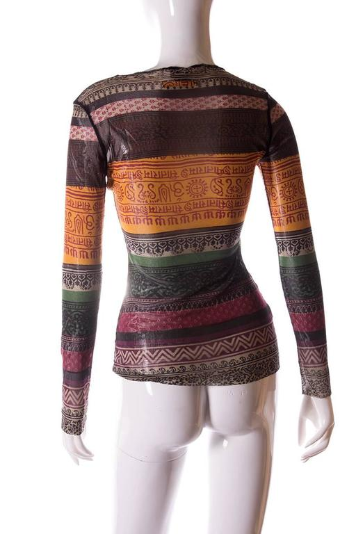 Jean Paul Gaultier Sheer Tribal Shirt 4