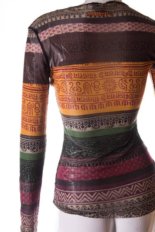 Jean Paul Gaultier Sheer Tribal Shirt 5
