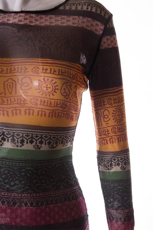 Jean Paul Gaultier Sheer Tribal Shirt 6