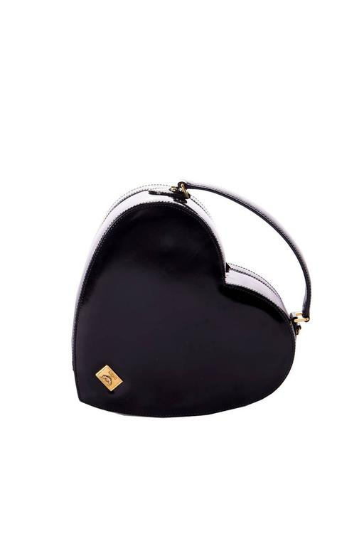 Moschino Redwall Patent Love Heart Bag 2
