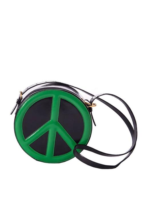 Moschino Redwall Peace Sign Bag 2