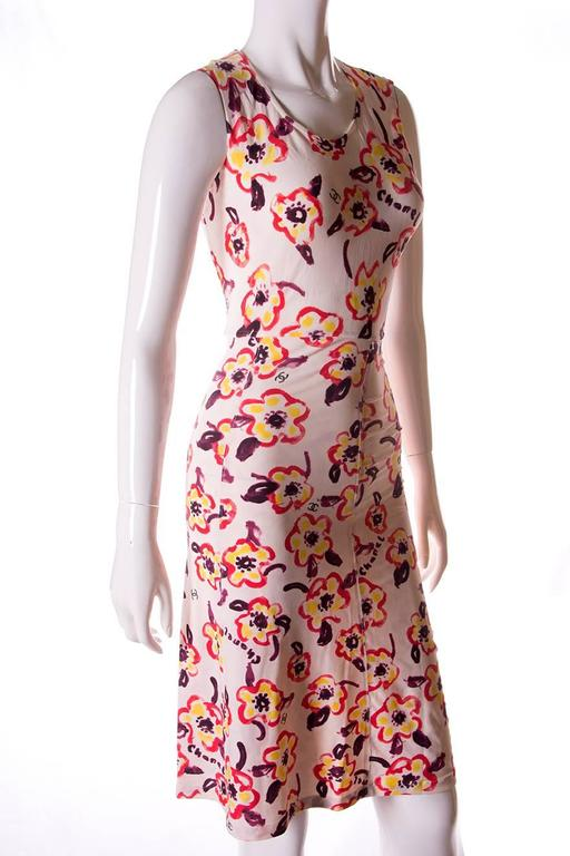 Chanel 1996 Iconic Camellia Print Dress 2
