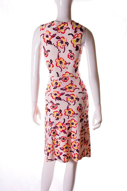 Chanel 1996 Iconic Camellia Print Dress 3