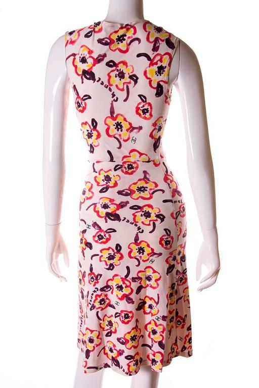 Chanel 1996 Iconic Camellia Print Dress 6