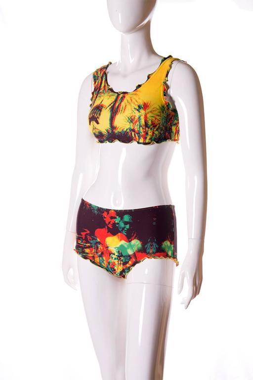 Jean Paul Gaultier 3D Tropical Print Swimsuit 2