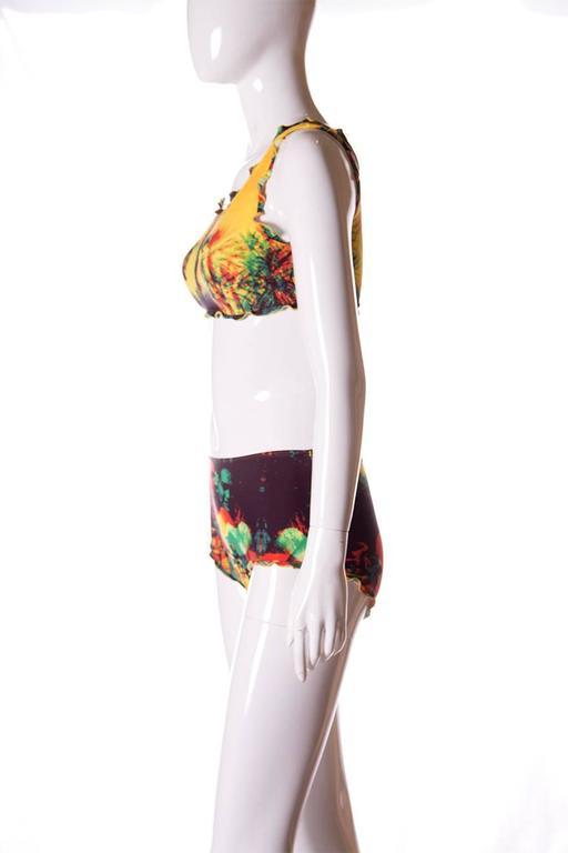 Jean Paul Gaultier 3D Tropical Print Swimsuit 3