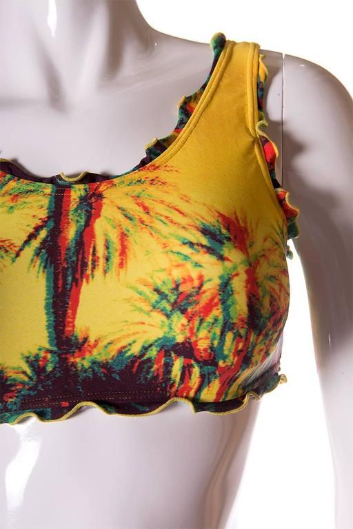 Jean Paul Gaultier 3D Tropical Print Swimsuit 5