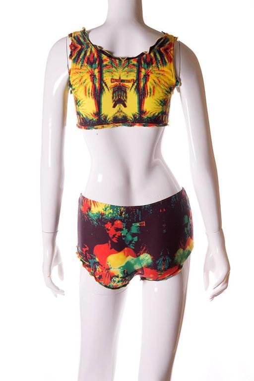 Jean Paul Gaultier 3D Tropical Print Swimsuit 7