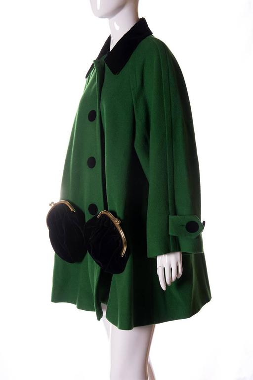 Moschino Novelty Purse Trapeze Swing Coat 2