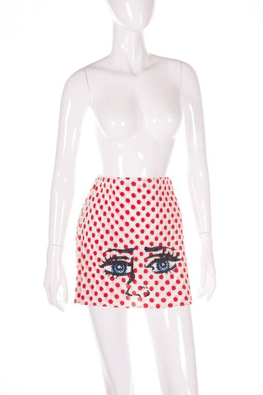 Issey Miyake Pleats Please Pop Art Mini Skirt 3