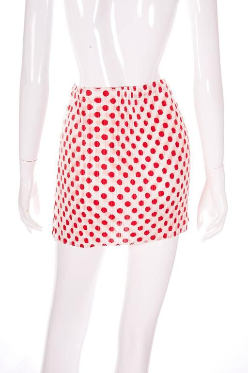 Issey Miyake Pleats Please Pop Art Mini Skirt 5