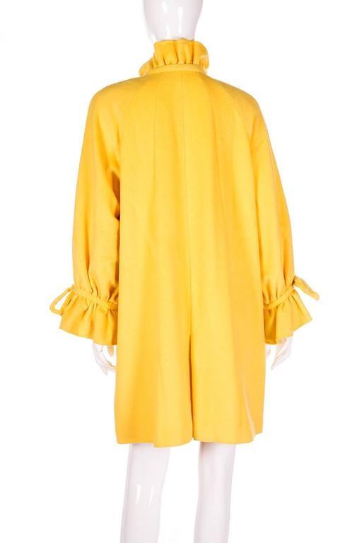 Karl Lagerfeld Bold Yellow Trapeze Coat 5