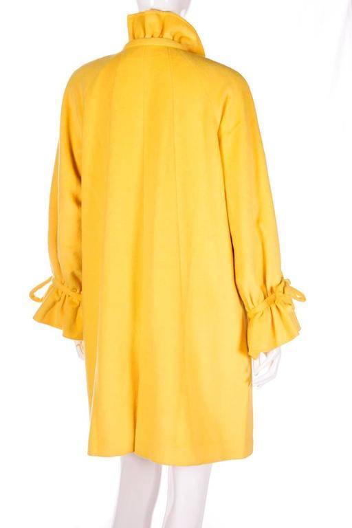 Karl Lagerfeld Bold Yellow Trapeze Coat 4