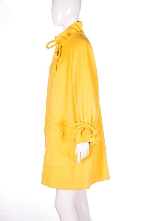 Karl Lagerfeld Bold Yellow Trapeze Coat 3