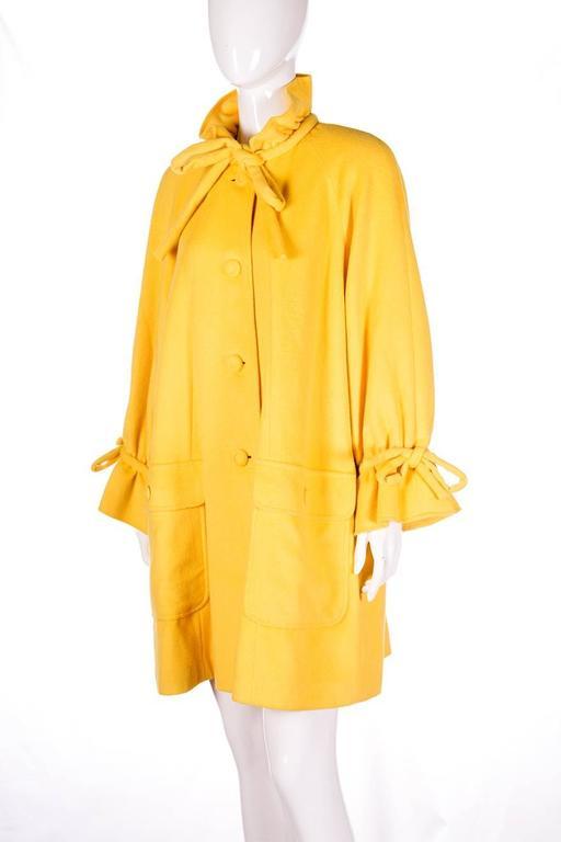 Karl Lagerfeld Bold Yellow Trapeze Coat 2