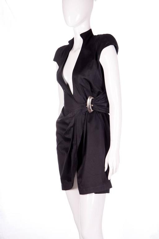Thierry Mugler Plunging Wrap Dress 3