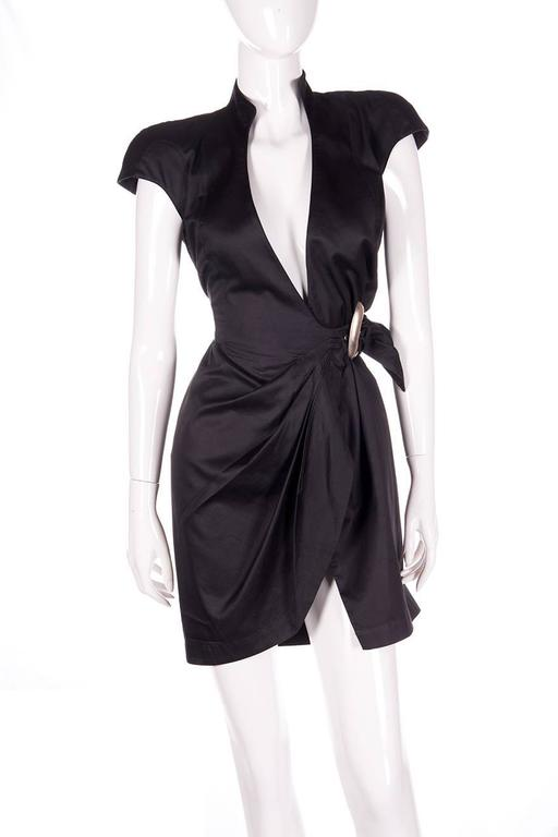 Thierry Mugler Plunging Wrap Dress 5