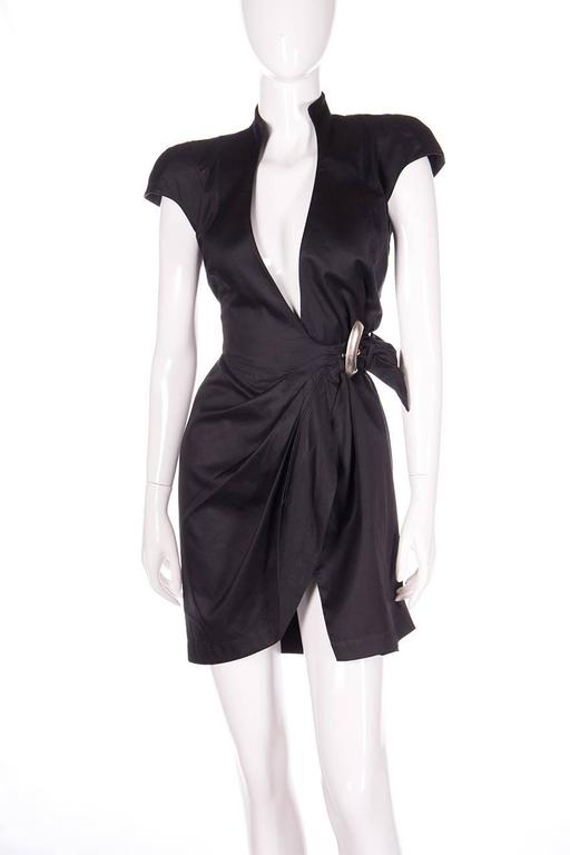Thierry Mugler Plunging Wrap Dress 2