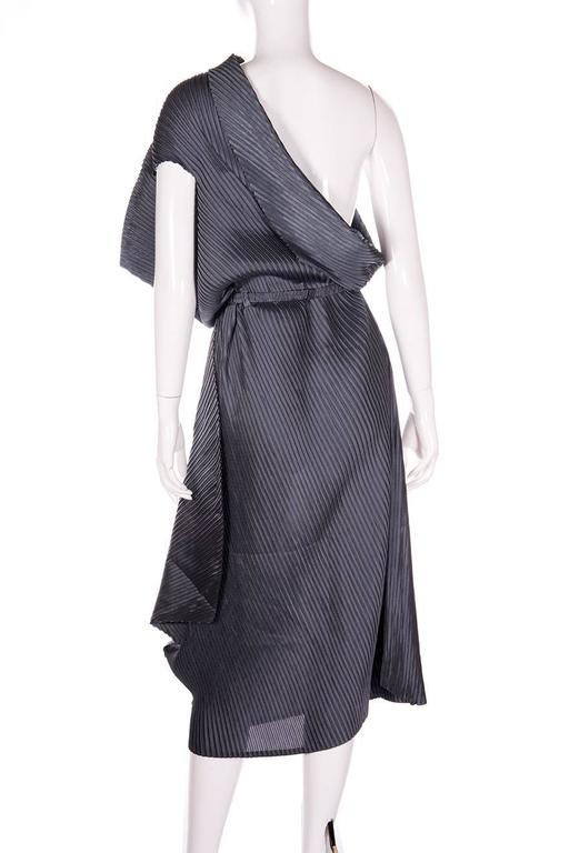 Issey Miyake Pleated One Shouldered Dress 4