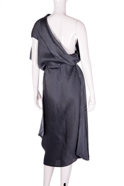 Issey Miyake Pleated One Shouldered Dress 5