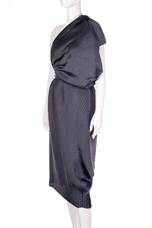 Issey Miyake Pleated One Shouldered Dress 2