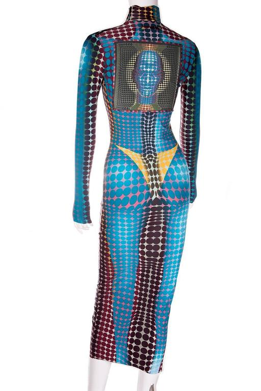 Jean Paul Gaultier 1996 Cyberbaba Op Art Dress 3