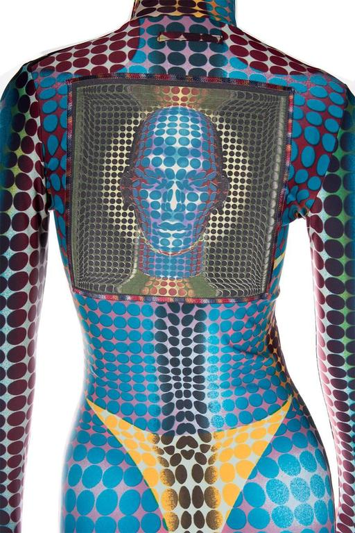 Jean Paul Gaultier 1996 Cyberbaba Op Art Dress 5