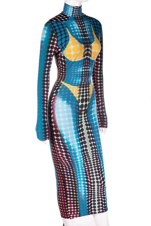 Jean Paul Gaultier 1996 Cyberbaba Op Art Dress 6