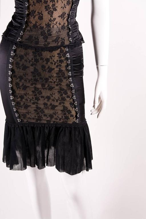 Moschino Satin Lace Corset and Skirt Set 4
