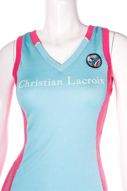 Christian Lacroix Vintage 90s Basketball Jersey Dress At