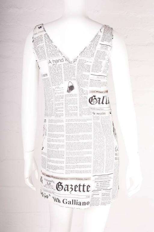 John Galliano Iconic Newspaper Print Dress 3