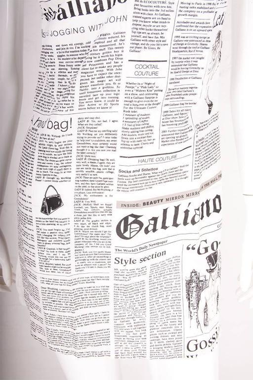 John Galliano Iconic Newspaper Print Dress 7