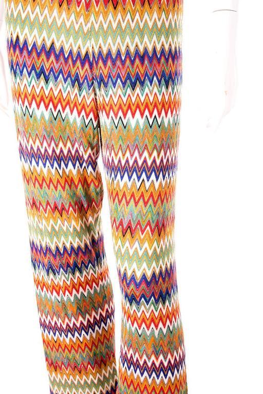 Missoni Zig Zag Flame Stitch 70s Knit Pants 4