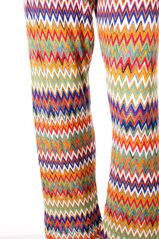 Missoni Zig Zag Flame Stitch 70s Knit Pants 5