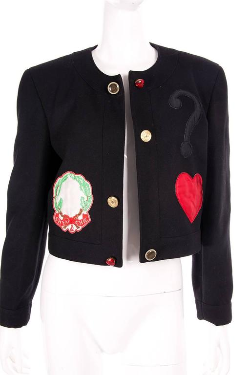 Moschino Cheap and Chic Applique Jacket 5