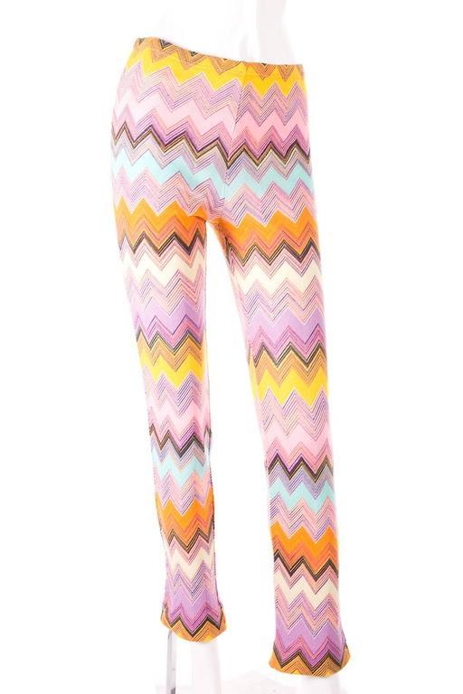 Missoni 90s Zig Zag Knit Pants 2