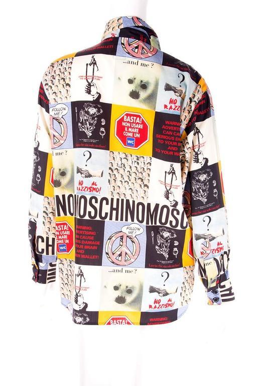 Moschino 1990s Slogan Printed Shirt 2