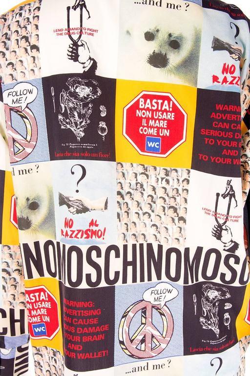Moschino 1990s Slogan Printed Shirt 5