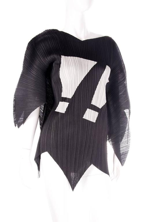 Issey Miyake Pleats Please Rare Exclamation Mark Top 2