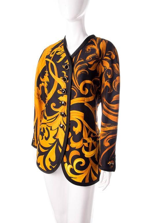 Gianni Versace Iconic 1991 Baroque Print Jacket 3