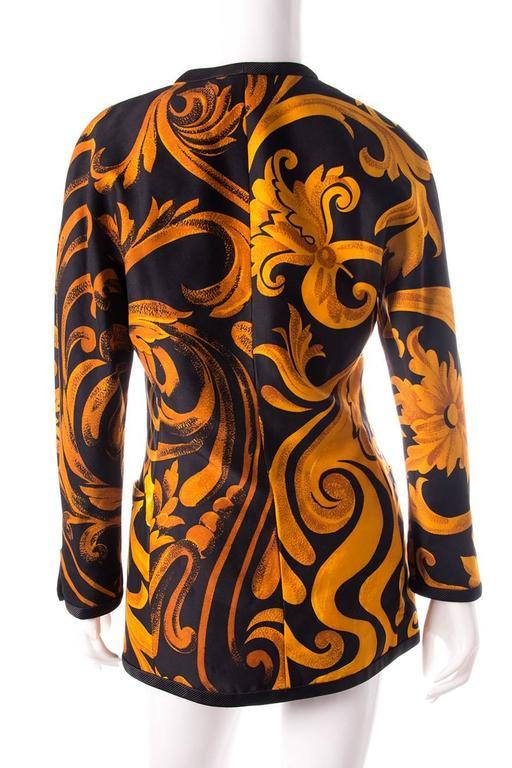 Gianni Versace Iconic 1991 Baroque Print Jacket 4
