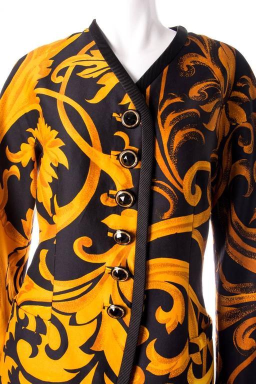 Gianni Versace Iconic 1991 Baroque Print Jacket 5