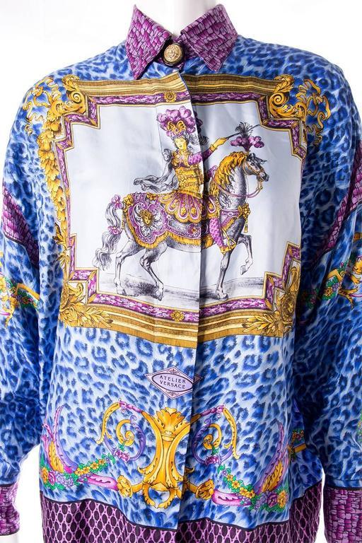 Gianni Versace Silk Rococo Shirt 4
