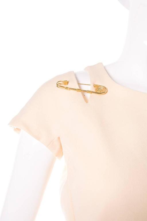 Gianni Versace Iconic Gold Medusa 1994 Safety Pin Shift Dress 2