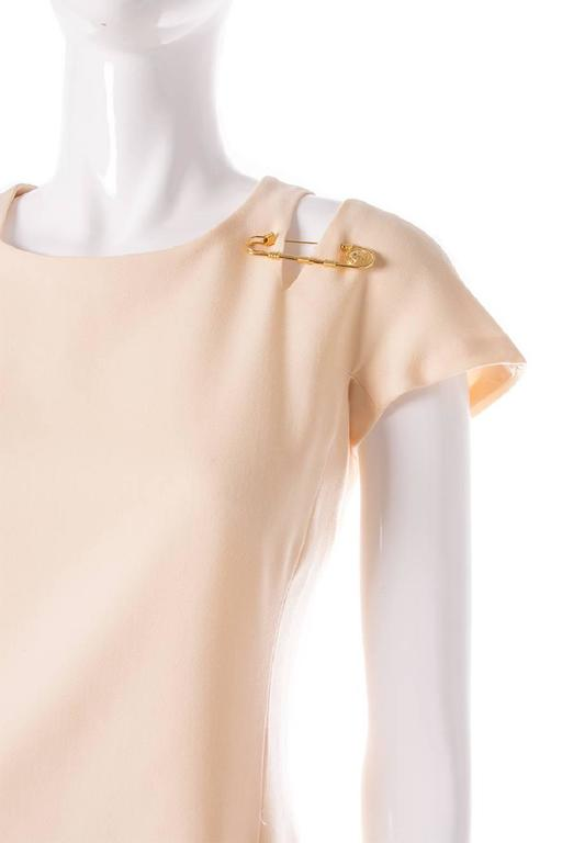 Gianni Versace Iconic Gold Medusa 1994 Safety Pin Shift Dress 3
